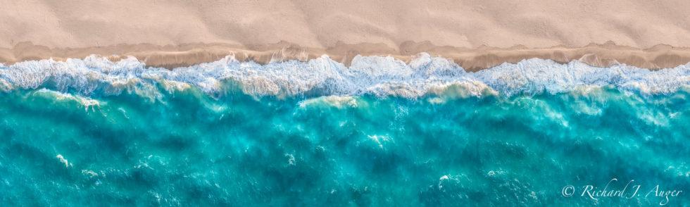 Juno Beach, Florida, Aerial, Drone, Waves, Panorama, Beach, Sand, Sunrise, Turquoise